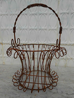Wrought Iron Tessa Basket  - Flower Planter Pot Holder - 12 Colors