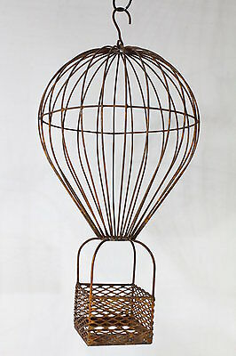 Sm Wrought Iron Balloon Basket Hanging Planter