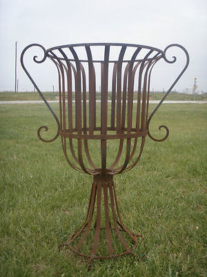 """XLG 36"""" Wrought Iron Urn Planter, Metal Garden Flower Pot w/ Traditional Style"""