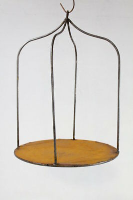 "23"" Wrought Iron Industrial Hanging Shelf Metal Stand for Decorating"