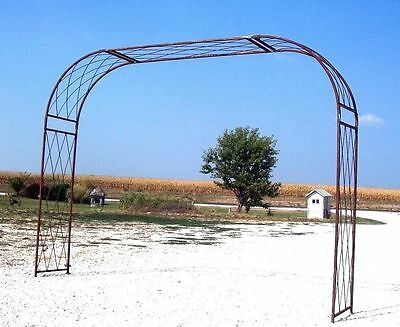 Extra Large Driveway Criss Cross Arbor Wrought Iron - Metal Yard Art  Arch