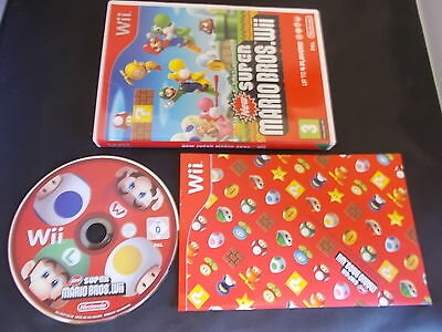 Nintendo Wii Pal Game NEW SUPER MARIO BROS. Wii with Box Instructions