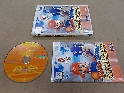 Nintendo Wii Pal Game MARIO & SONIC AT THE OLYMPIC GAMES with Box Instructions
