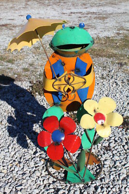 """21"""" Recycled Metal Sm Franny  Frog"""