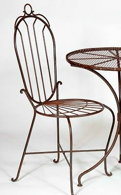 Wrought iron Federal Chair Metal Garden Patio Seating Lawn Furniture