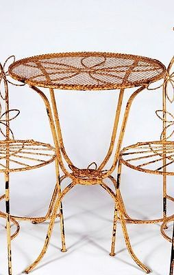 Wrought iron Daisy Table Metal Patio Furniture Lawn Furniture