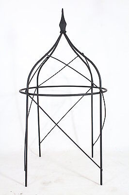 Wrought Iron Rosey Topiary Plant Support Trellis