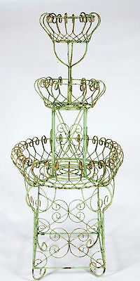 """59"""" Wrought Iron 3 Tiered Fountain Planter - Metal Flower Holder for Your Garden"""
