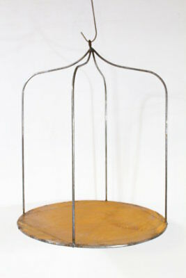 "27"" Wrought Iron Industrial Hanging Shelf Metal Stand for Decorating"
