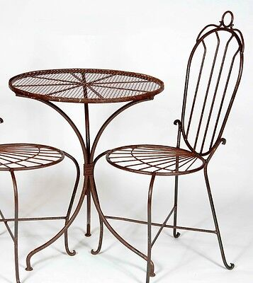 """24"""" Round Wrought Iron Table - Patio Furniture for All Occations, Chairs Avail."""
