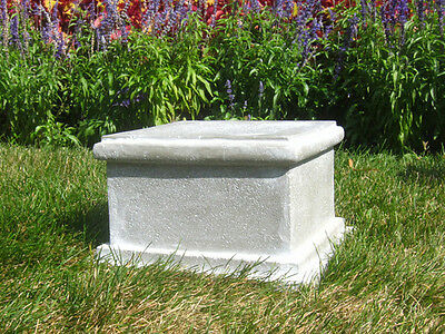 Sella Riser Pedestal - Durable Fiberstone Base for Statue or Planters