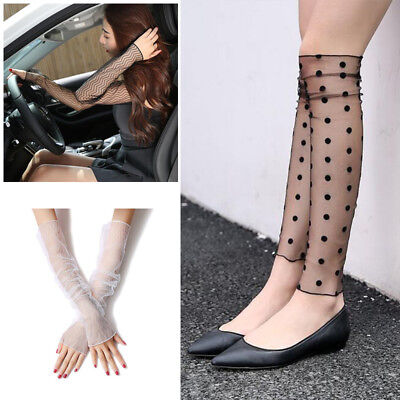 Lace Arm Warmer Cuff Sleeve Cover Cycling Riding UV Sun Protection Outdoor