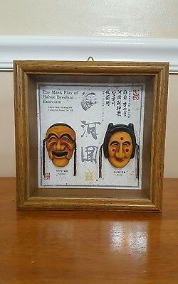 The Mask Play of hahoe byeolsin exorcism shadow box picture wall decor