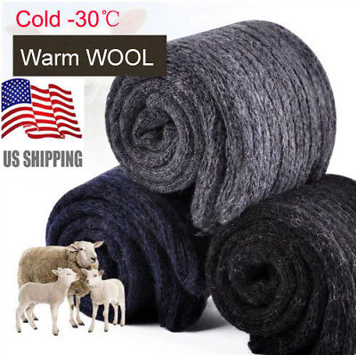 4Pairs US Mens Warm & Soft Comfort Wool Cashmere Socks Large Winter Thick Socks