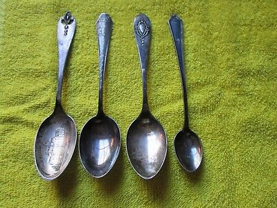Antique Sterling Silver Spoons ( qty 4 )