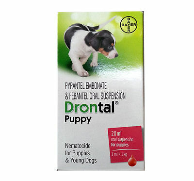 Bayer Drontal Dewormer Puppies 20ml Pack Very Effective Dogs care Free Shipping