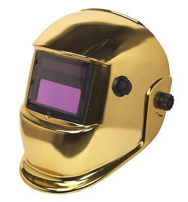 Sealey PWH598G Welding Helmet Auto Darkening Shade 9-13 Gold New