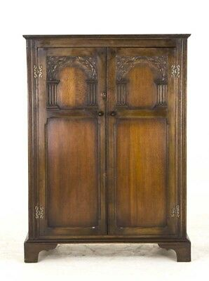 Petite Armoire | Vintage Oak 2 Door Wardrobe | Fitted Interior | B808