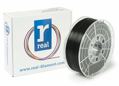 Real Filament 8719128324807 Real PLA, Spool of 1 kg, 1.75 mm, Black