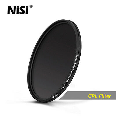 Nisi 37-86mm Ultra-thin Professional CPL Round PL Filter Polarizer Free Shipping