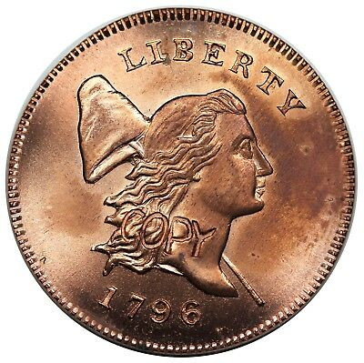 Gallery Mint 1796 Liberty Cap Half Cent, With Pole, UNC