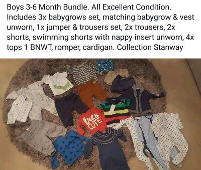 Large boys 3-6 months bundle. next, m&s & more Some BNWT