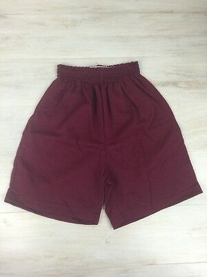 Augusta Sportswear Youth Small Athletic Gym Workout Shorts Maroon