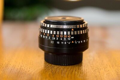 Vintage MEYER OPTIK GORLITZ DOMIPLAN 1:2,8 F2.8 50mm. M42 mount lens Zebra