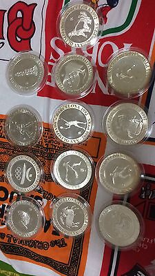 13pc spain 2000 pesetas  proof 1990 -92 Barcelona Olympic Games  silver coin