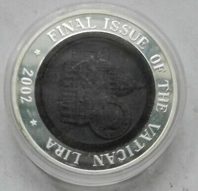 2002 korea  final issue vatican lira silver  COIN