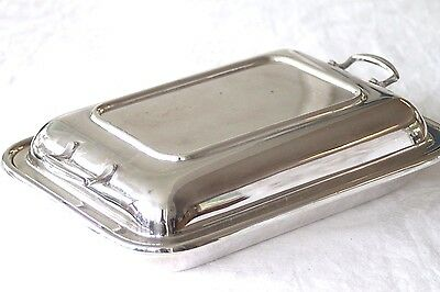 Vintage silver plated entree vegetable lidded dish