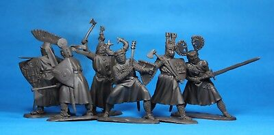 Collectible Plastic Toy Soldiers Publius German Knights minstrels set 132