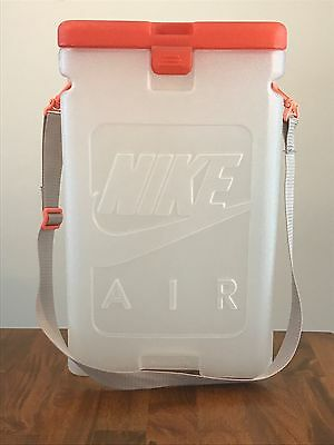 Vintage NIKE AIR PRESSURE Plastic Shoe Box Carrying Case w/Strap Embossed Logos
