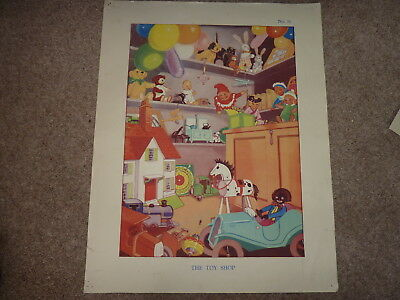 Vintage Schools Poster ?40's 50's. The Toy Shop No. 11