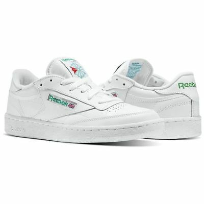 Reebok Club C 85 AR0456 White/Green Leather Casual  Men Shoes Fast Shipping