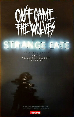 OUT CAME THE WOLVES Strange Fate 2017 Ltd Ed RARE Poster +FREE Rock Poster