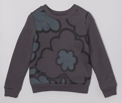NWT Girls 3T Gray Graphic Sweatshirt Floral Pullover Sweater by Free Spirit