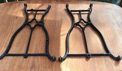 """Cast Iron Sewing Machine Table Legs Only  Wheeler and Wilson 28"""""""