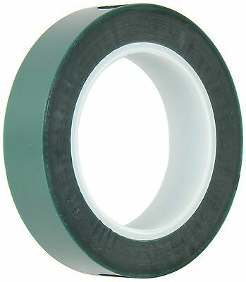 "HIGH TEMPERATURE POWDER COATING POLYESTER/SILICONE MASKING TAPE GREEN 7/8""x72YDS"