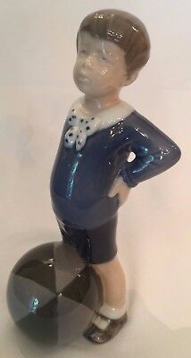Royal Copenhagen #3542 Boy with Ball porcelain figurine w/ maker's mark