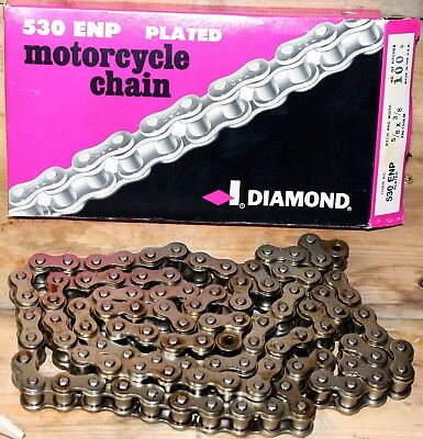 Diamond USA Motorcycle Roller Chain ENP Nickel Plated #530 - 100