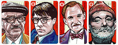 Lusky Wes Anderson train ticket portrait collection