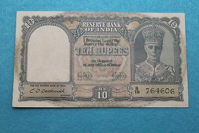 {L.N 57} India 10 Rupees .1943 .#P-24.XF