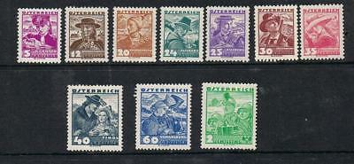NEW  STAMPS   AUSTRIA  1935 COSTUMS  part set 5g to 2/-  (MINT-HINGED)  lot 672