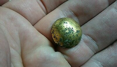 Roman Bronze heavily gold Guilded stud missing point probably high military L83