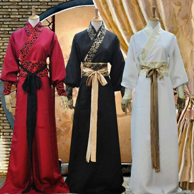 men Chinese ancient times martial arts style dress waistband costumes size S-3XL