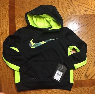 NWT NIKE Toddler Boys Therma Dri-Fit Training Hoodie Pullover 2T