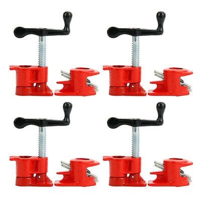 """4 Set 3/4"""" Wood Gluing Pipe Clamp Set Heavy Duty PRO Woodworking Cast Iron"""