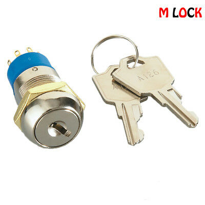 Lot of 10 Electronic Key Switch Lock Flat Key 4 Disc Tumbler Switch Lock