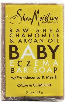 Raw Shea Butter with Chamomile & Argan Oil Baby Eczema Bar Soap, 5 oz 1 pack